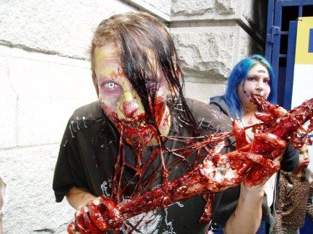 zombie eating