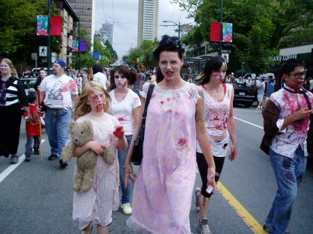 zombie mom and child