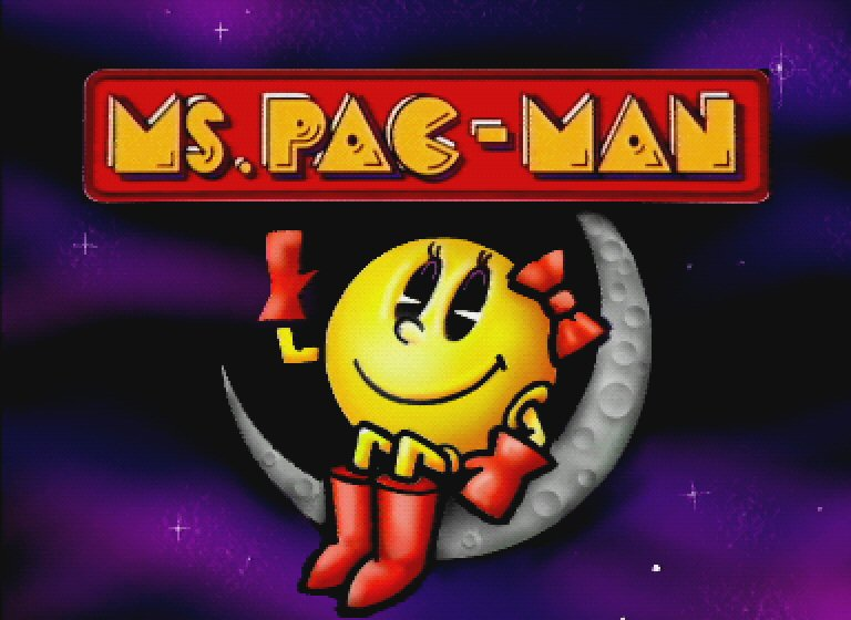 full screen ms pacman